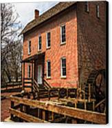 Grist Mill In Hobart Indiana Canvas Print by Paul Velgos