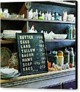 Groceries In General Store Canvas Print by Susan Savad