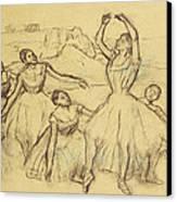 Group Of Dancers Canvas Print by Edgar Degas