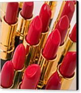 Group Of Red Lipsticks Canvas Print by Garry Gay