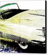 Grunge Retro Car Canvas Print by David Ridley