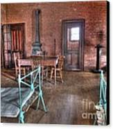 Guard Shack Day Room Canvas Print by MJ Olsen