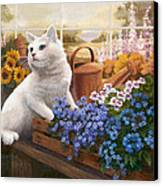 Guardian Of The Greenhouse Canvas Print by Evie Cook