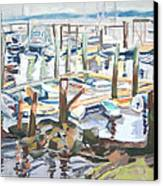 Guardians Of The Harbor Canvas Print by Grace Keown