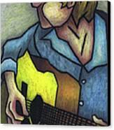 Guitar Man Canvas Print by Kamil Swiatek