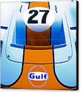 Gulf Ford Gt40 Canvas Print by motography aka Phil Clark