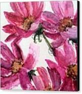 Gull Lake's Flowers Canvas Print by Sherry Harradence