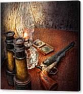 Gun - The Adventures Code  Canvas Print by Mike Savad