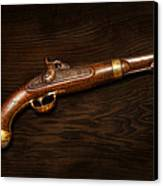 Gun - Us Pistol Model 1842 Canvas Print by Mike Savad