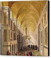 Haghia Sophia, Plate 2 The Narthex Canvas Print by Gaspard Fossati