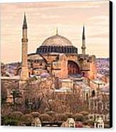Hagia Sophia Mosque - Istanbul Canvas Print by Luciano Mortula