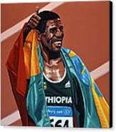 Haile Gebrselassie Canvas Print by Paul Meijering