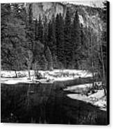 Half Dome In Winter Canvas Print by Karma Boyer