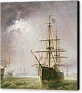 Half Mast High 19th Century Canvas Print by  Robert  Dudley