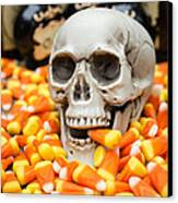 Halloween Candy Corn Canvas Print by Edward Fielding
