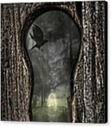 Halloween Keyhole Canvas Print by Amanda Elwell