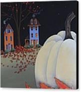 Halloween On Pumpkin Hill Canvas Print by Catherine Holman