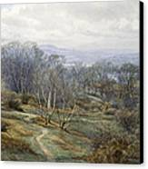 Hampstead Heath Looking Towards Harrow On The Hill Canvas Print by Edith Martineau