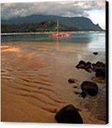 Hanalei Bay At Dawn Canvas Print by Kathy Yates