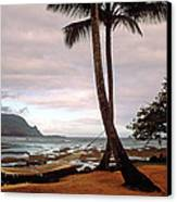 Hanalei Bay Hammock At Dawn Canvas Print by Kathy Yates