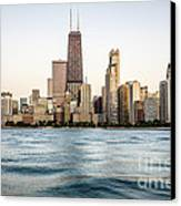 Hancock Building And Chicago Skyline Canvas Print by Paul Velgos