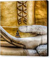 Hand Of Buddha Canvas Print by Adrian Evans