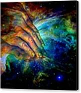 Hands Of Creation Canvas Print by Evelyn Patrick