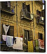 Hanging Out To Dry In Palermo  Canvas Print by Madeline Ellis