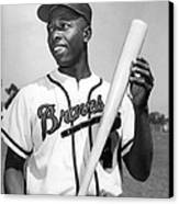 Hank Aaron Poster Canvas Print by Gianfranco Weiss