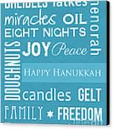 Hanukkah Fun Canvas Print by Linda Woods