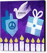 Hanukkah Peace Canvas Print by Linda Woods