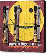 Happy Barn Canvas Print by Wendell Thompson