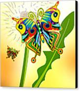 Happy Hippie Butterflies Canvas Print by Bob Orsillo
