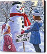 Happy Holidays Canvas Print by Richard De Wolfe