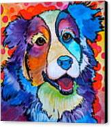 Happy Scout Canvas Print by Debi Starr
