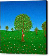 Happy Walking Tree Canvas Print by Gianfranco Weiss