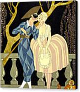 Harlequin's Kiss Canvas Print by Georges Barbier