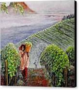 Harvest At Dawn Canvas Print by Michael Durst