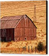 Harvest Barn Canvas Print by Mary Jo Allen