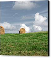 Hay Bales Canvas Print by Steven  Michael