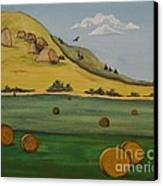 Haybales Canvas Print by Cassandra Barnhart