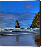 Haystack Rock And The Needles IIi Canvas Print by David Patterson