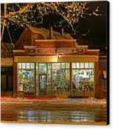 Hdr Moffett's Hardware Winter Sussex Night Canvas Print by Jamie Roach