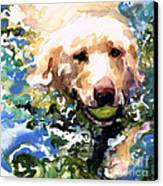 Head Above Water Canvas Print by Molly Poole