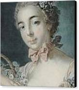 Head Of Flora Canvas Print by Francois Boucher