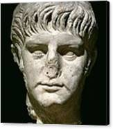 Head Of Nero Canvas Print by Anonymous