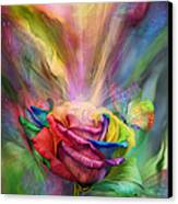 Healing Rose Canvas Print by Carol Cavalaris