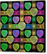 Hearts Canvas Print by Sandy Keeton