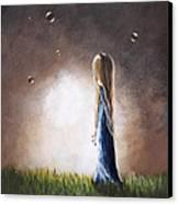 Heaven Heard Her Prayers Tonight By Shawna Erback Canvas Print by Shawna Erback