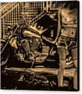 Her Bike Canvas Print by Bob Orsillo